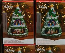 """Disney Animated 17.5"""" Christmas Tree with LED Lights and Music Xmas Decorations"""