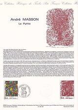 Document Philatélique Timbre 1er Jour : 13/10/ 1984 - André Masson La Pythie