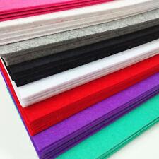 2MM Thick FELT FABRIC Non Woven Wool Blend School DIY Crafts A4 Sheet Yards Roll