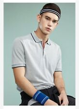0ac2d63abc48e Giordano men slim casual pique stretchy stripes ribbed collar tops polo  shirt