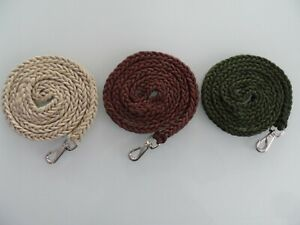 STRONG BRAIDED ROPE TYPE DOG LEADS.