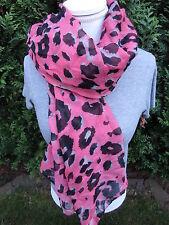 Super Trendy Halstuch Tuch Schal *NEU* Pink-Schwarz-Leo ( 74)