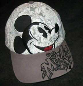 Disneyland DISNEY PARKS Adjustable MICKEY MOUSE SKETCH / GRAFFITI Ball CAP Hat