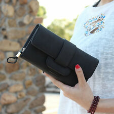 Women Leather Bifold Wallet Clutch Card Holders Lady Purse Long Handbag бумажник