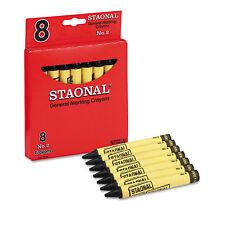 Crayola Staonal Marking Crayons, Black, 8/Box, BX - CYO5200023051