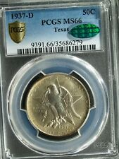 1937-D Texas Commemorative Silver Half $ - MS66 (PCGS, CAC)   stk#6279
