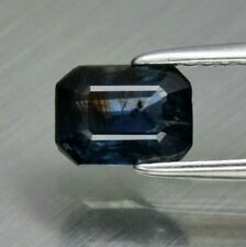1.11 ct   Octagon Natural Unheated Untreated Blue Sapphire, Madagascar