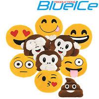 Emoji Emoticon Yellow Round Cushion Stuffed Pillow Plush Soft Toys Decor UK SLR