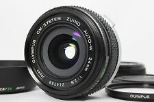 Excellent OLYMPUS OM-SYSTEM ZUIKO AUTO-W 24mm F2.8 Lens with Hood from Japan