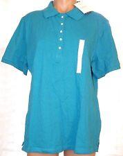 New Croft & Barrow XL short sleeve polo knit top shirt turquoise