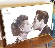 Vintage Apple Computer Advertising Poster 1998 Think Different I Love Lucy Desi