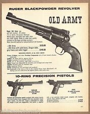 1976 RUGER Old Army Blackpowder Cap & Ball Revolver Dueller & Rival Pistol AD