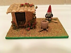 "Dollhouse Miniature Handmade Gnome Scene House 3"" L x 2"" W x 1 1/4"" H"