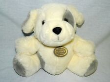 "VTG Ganz plush puppy dog 9"" white grey BOWSER 1988 Heritage Collection stuffed"