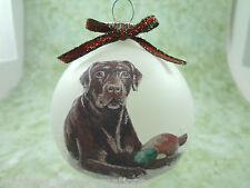 D008 Hand-made Christmas Ornament - Labrador Retriever - brown chocolate lab dog