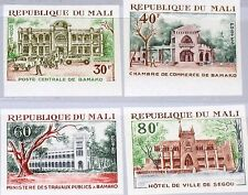 Mali 1970 247-50 u 136-39 public buildings construyeron Post Office City Hall mnh