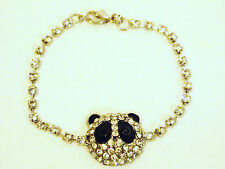 A Sparkling Panda Charm Diamente Bracelet,L18.5cm, D2cm