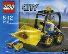 LEGO CITY BAU 30151 Bulldozer + Fahrer Straßenbau Tiefbau ;)