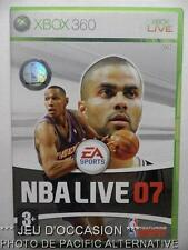Jeu NBA LIVE 07 sur xbox 360 microsoft game francais basket 2007 sport spiel TBE