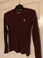 Abercrombie and Fitch Maroon Long Sleeve Kids Size 15/16