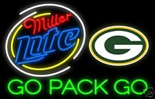 MIILLER LITE GREEN BAY PACKERS Neon Sign, Flat Flexible Refrigerator Magnet