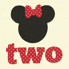 Minnie Mouse 2nd Birthday fabric Iron On Applique