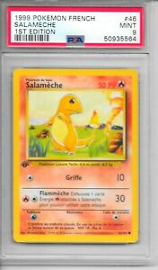 Pokemon PSA 9 MINT FRENCH 1999 1st Ed Base Salameche (Charmander) #46 Card   NEW