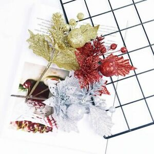 1 PC 9 inch Artificial Christmas  Assorted Holly Picks  Branches for Floral