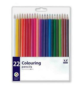 IG Design Colouring Pencils Pencil Crayons Strong Leads in Wallet - Pack of 22