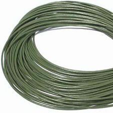2mm Olive Green Greek Leather Cord 5 meters 43253  Round Leather Cording Supple