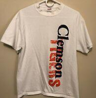 Clemson Tigers Short Sleeve White t-shirt Men's size Large L Football SOFFE