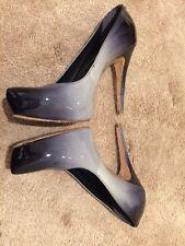 Ladies Grey Spray Gradient Patent Leather Platform Shoes High Heel Aldo Size 6