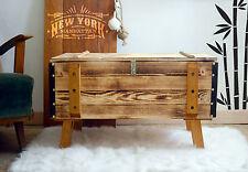 Shabby Chic Vintage Frachtkiste Holzkiste Couchtisch Landhaus Tisch Truhe 4