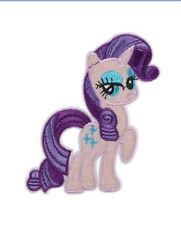 """My Little Pony Rarity Patch Embroidered Sew / Iron On Applique 3.38"""" X 2.91"""""""