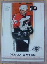 ADAM OATES AUTHENTIC GAME WORN JERSEY PATCH PRISM-McDONALD'S CARD-MINT-RARE