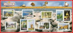 FRANCE 2006 REGIONS booklet #8 (folded) MNH ** WINDMILL, SHIPS, CASTLE, RELIGION