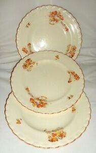 J&G Meakin Sol 391413 Dinner Plates / Antique Dinner Ware c1912