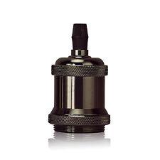 Black Style Screw Light Bulb Lamp Holder Retro Pendant Lighting Socket