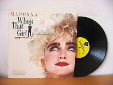 """MADONNA """"Who's That Girl"""" original PROMO LP from 1987 (SIRE 1-25611)."""