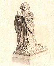 Portrait XIXe Pierre de Bec de Lièvre Marquis de Quevilly Normandie 1839