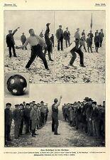 Vom Bosselsport in den Marschen Aufnahmen v. Karl Kuskop Wilster i.Holstein 1902