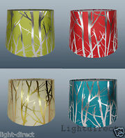 "11"" FABRIC TREE  BRANCH LAMP SHADE TABLE CEILING LIGHT LAMPSHADE VIBRANT NEW"