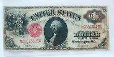 $ 1 Dollar Banknote SERIES 1917 LARGE SIZE   RED SEAL   (( VG - F ))