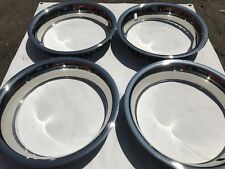 "15"" INCH BEAUTY TRIM RINGS 3"" STAINLESS STEEL SET OF 4 DEEP LARGE 15X8 15X10"