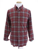 Brooks Brothers Mens Flannel Regular Fit Button Up Shirt Holiday Tartan Red Sz M