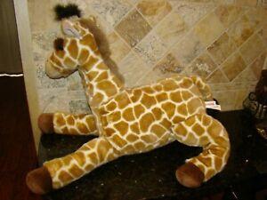 """Aurora GIRAFFE Laying Soft Plush Stuffed Animal Toy Large 24"""" L x 18"""" Tall"""