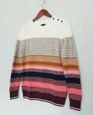 Talbots SMALL Knit Sweater Merino Thermolite Cotton Pullover Multicolor