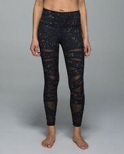 Lululemon High Times Pant Luon Tech Mesh Yoga Tights star crushed coal black 4