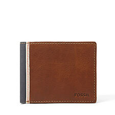 Fossil Original ML3309200 Brown Elgin Traveler Leather Men's Wallet