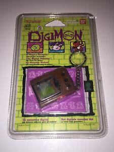 DIGIMON TAMAGOTCHI | DIGITAL MONSTER VIRTUAL PET LCD BROWN | BANDAI 1997 NEW MOC